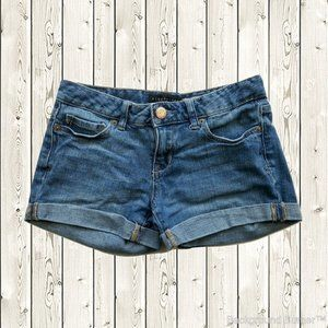 Aeropostale Cuffed Midi Denim Shorts